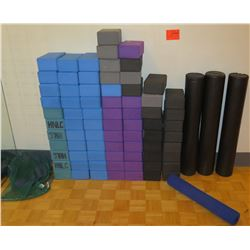 Yoga Foam Blocks and Foam Rollers
