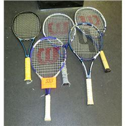 Qty 5 Rackets