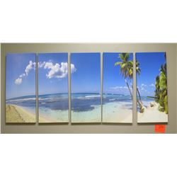 Palm Tree Photographic Art on Canvas - 5 Panels