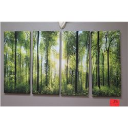 Forest Photographic Art on Canvas - 4 Panels