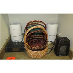 Air Purifiers, Baskets, Radio