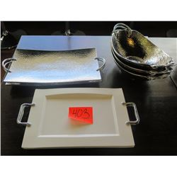 Misc. Platters & Bowls w/ Handles