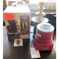 Chocolate Fountain and Frozen Yogurt Maker