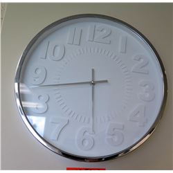 Modern Clock with White Numbering