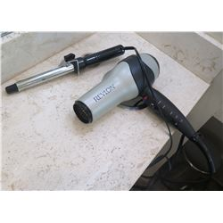 Qty 4 Hair Dryers & 4 Curling Irons