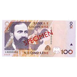 Banka e Shqiperise. 1996 (1997). Specimen Note.
