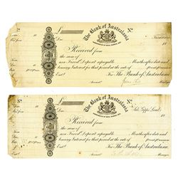 Bank of Australasia, ca.1850-60's Proof Receipts & CD's