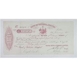 Bank of Victoria, Ltd. 1902 I/U Second Exchange