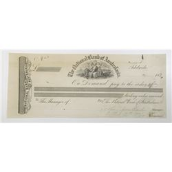 "National Bank of Australasia 1871 ""Adelaide"" Branch Issue Proof Check"