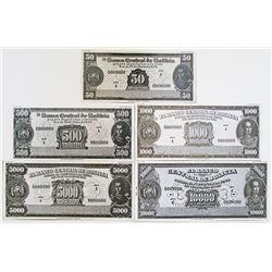 Bolivia. Banco Central de Bolivia, 1949 Lot of 4 Unadopted Essay Design Bromide Photo Proofs