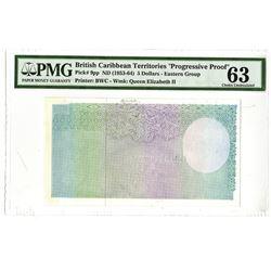British Caribbean Territories. 1961. Progressive Proof Note.