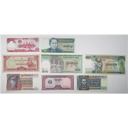Japanese Government, Bank of Kampuchea, Union Burma Bank & Others. 1940s-1990s. Lot of 34 Issued Not