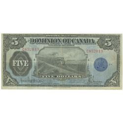 Dominion of Canada, 1912 Issue Banknote.