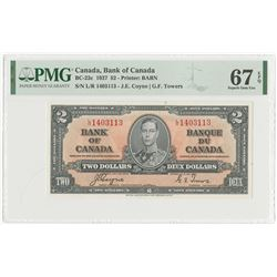 Bank of Canada, 1937 High Issue Note.