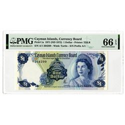 Cayman Islands. Cayman Islands Currency Board, 1971 (ND 1972), Issued Banknote