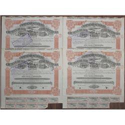 Compagnie Generale de Chemins de Fer et de Tramways en Chine, 1920 Bond Quartet