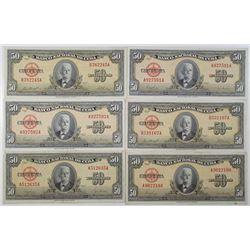 Cuba. Banco Nacional de Cuba, ca. 1950s. Group of 13 Issued Banknotes