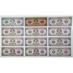 Ecuador. Banco Central del Ecuador, ca. 1960-1980s Issued Banknote Assortment
