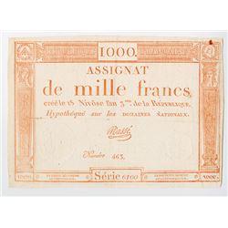 Republique Francaise. 1795. Issued Assignat.