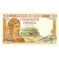 Banque de France. 13-7-1939. Issued Notgeld Note.