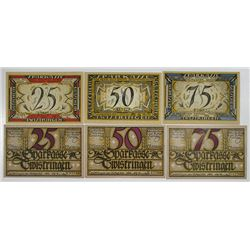 Sparkasse Twistringen German Notgeld, 1921, Issued Banknote Group of 6.
