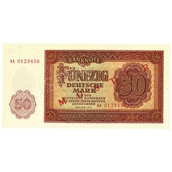 Deutsche Notenbank. 1955. Specimen Note.