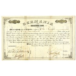 Germania 1874 I/U Bond - Probably a bond for a Club House