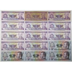 Honduras. Banco Central de Honduras. Group of 15 Issued Banknotes