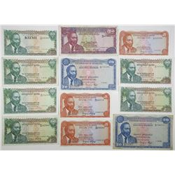 Central Bank of Kenya. 1969-2008. Lot of 29 Issued Notes.