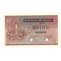 Banque Nationale du Laos. ND (1962). Specimen Note.