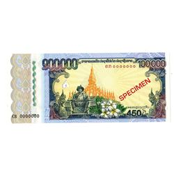 Bank of the Lao Peoples Democratic Republic. 2010. Specimen Note.