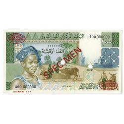 Banque Centrale de Mauritanie. 1977. Specimen Note.