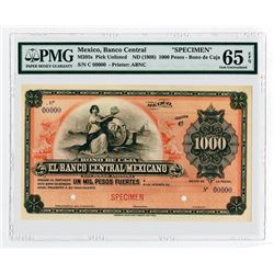 Banco Central Mexicano. ND(1908). Specimen Circulating Bond.