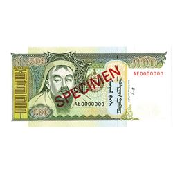 Mongol Bank. 2000. Specimen Note.