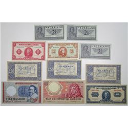 Nederlandsche Bank & Others. 1938-1983. Lot of 11 Issued Notes.