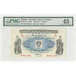 Bank of Ireland, 1942 issue Banknote.