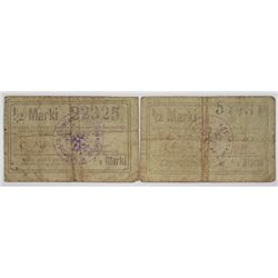 K_pno. 1920. Lot of 2 Issued Notgeld Notes.