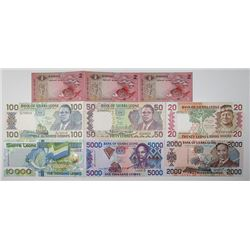 Various Worldwide Issuers. 1979-2004. Lot of 22 Issued Notes.