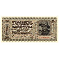Zentralnotenbank Ukraine. 1942. Issued Note.