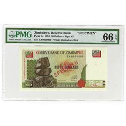 Reserve Bank of Zimbabwe. 1994. Specimen Note.