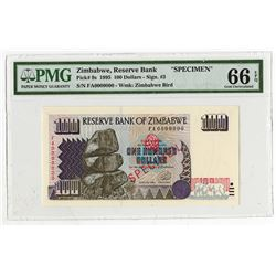Reserve Bank of Zimbabwe. 1995. Specimen Note.