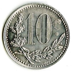 French Occupation - Token Coinage - Chambre De Commerce D'Algerer, 1921 10 Centimes, KM#TnA5, Coin.