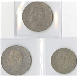 Germany, Bavaria 3 Mark, 1908D & 1912D, and 2 Mark, 1904D, Silver, KM#996 and KM#913, VF - XF Trio.