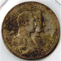 Germany, Saxe-Weimar-Eisenach, 1915A, 3 Mark, Silver, KM#222, XF to Choice XF