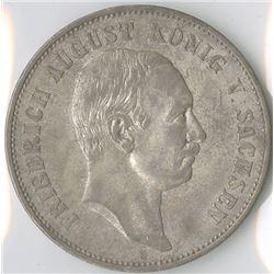Germany, Saxony 1908E, 5 Mark, Silver, KM#1266, Choice VF-XF.