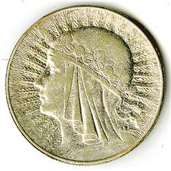 Republic of Poland, 1932 (London), 10 Zlotych, Silver, Y#22,VF-XF Condition.