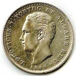 Kingdom of Portugal, 1886, 500 Reis, Y#509, XF to Choice XF Condition.