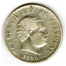 Kingdom of Portugal, 1899, 500 Reis, Y#535, XF to Choice XF Condition.