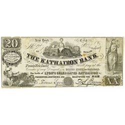 Kathairon Bank, 1860-70's Issued Advertising Note