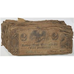 Farmers Bank of Bucks County 1841 I/C Banknote Assortment